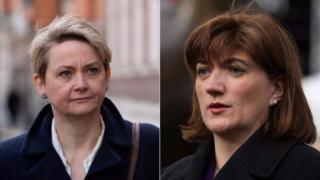 Yvette Cooper and Nicky Morgan